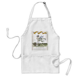 football left wing, blue white kit adult apron