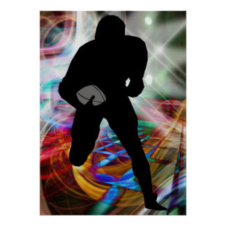 Football Lights at Night Poster