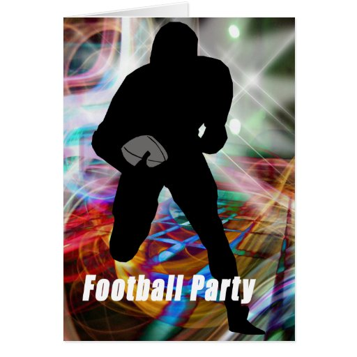 Football Lights Party Greeting Card