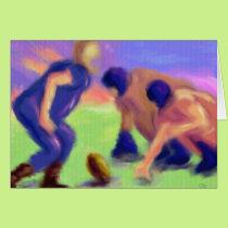 Football Line Art Card