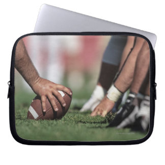 Football line of scrimmage laptop sleeve