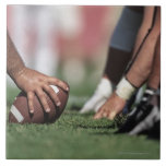 Football line of scrimmage large square tile