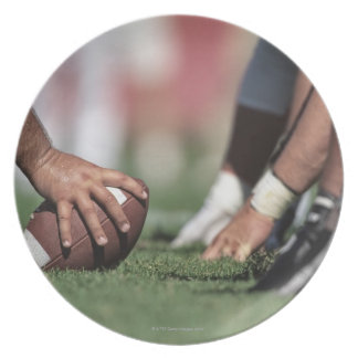 Football line of scrimmage melamine plate