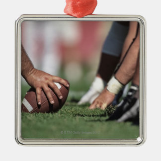 Football line of scrimmage metal ornament