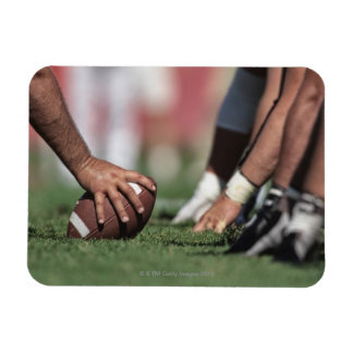 Football line of scrimmage rectangular photo magnet