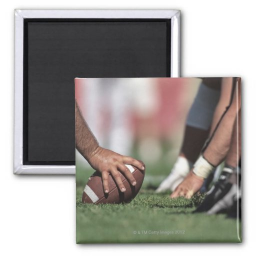 Football line of scrimmage refrigerator magnets