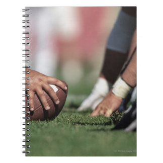 Football line of scrimmage spiral notebook