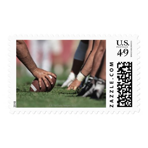 Football line of scrimmage stamps