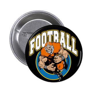 Football Logo 2 Inch Round Button