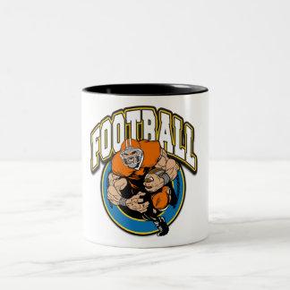 Football Logo Two-Tone Coffee Mug