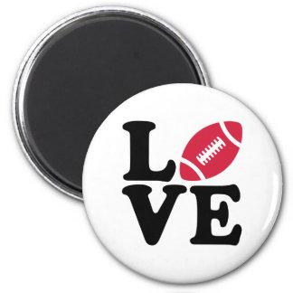 Football love refrigerator magnet