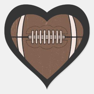 Football Love Heart Sticker
