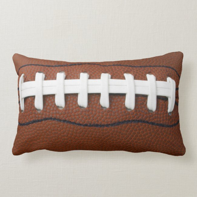 Football Lumbar Throw Pillow
