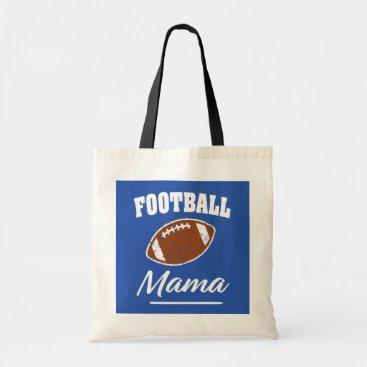 Beach Themed Football Mama funny saying bag