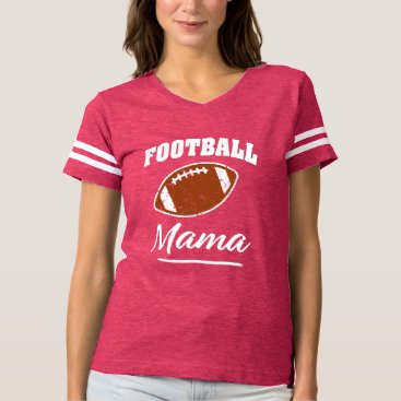 Beach Themed Football Mama funny saying shirt