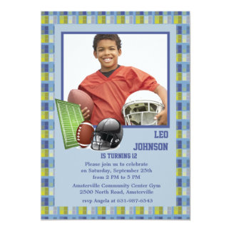 Football Mania Photo Invitation