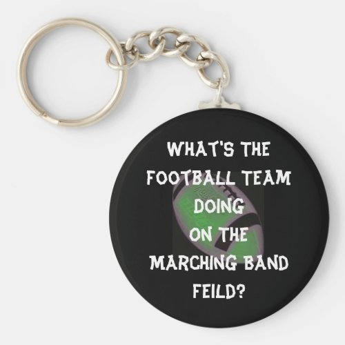 Football Marching Band Keychain