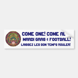 Football-Mardi-Gras-3.png Car Bumper Sticker