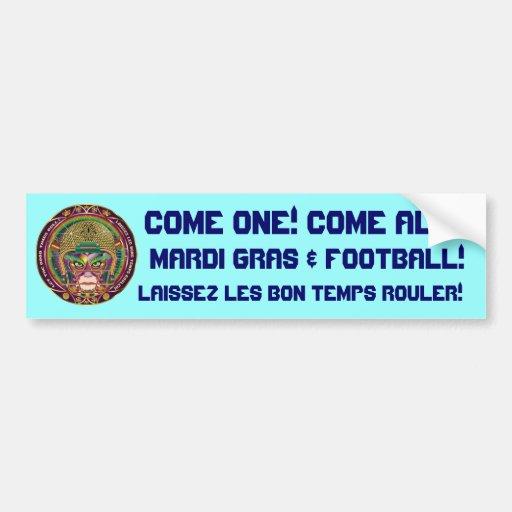Football-Mardi-Gras-3.png Pegatina Para Auto