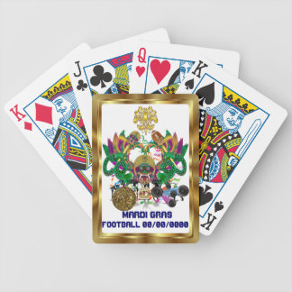Football Mardi Gras Dragon King view notes Please Bicycle Playing Cards