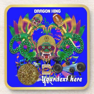 Football Mardi Gras Dragon King view notes Please Drink Coasters