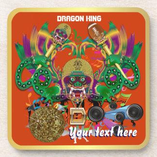 Football Mardi Gras Dragon King view notes Please Beverage Coasters