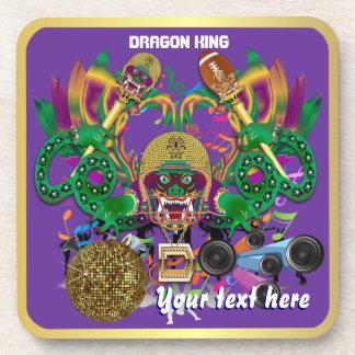 Football Mardi Gras Dragon King view notes Please Coasters