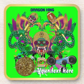 Football Mardi Gras Dragon King view notes Please Drink Coaster