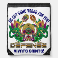 Football Mardi Gras Read About Design Drawstring Bag