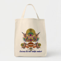 Football Mardi Gras think it's to early view notes Tote Bag