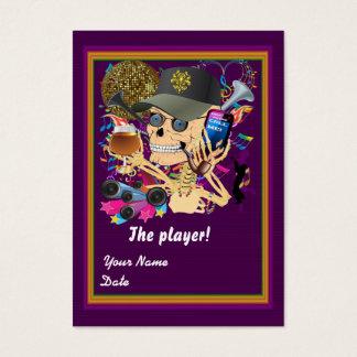 Football Mardi Gras Throw Card View Notes Please