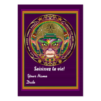 Football Mardi Gras Throw Card View Notes Please Business Card Template