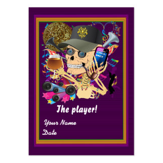 Football Mardi Gras Throw Card View Notes Please Business Cards
