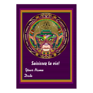 Football Mardi Gras Throw Card View Notes Please Business Card
