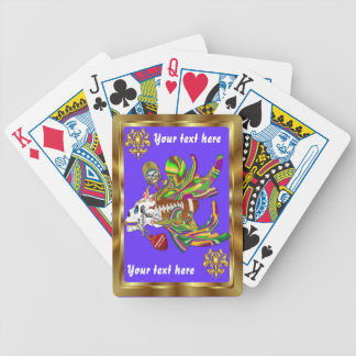 Football Mardi Gras Voodoo Skelly View Notes  Plse Bicycle Playing Cards