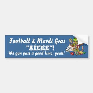 Football Mardi Gras Voodoo Skelly View Notes  Plse Car Bumper Sticker
