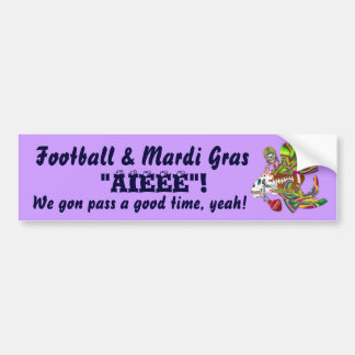 Football Mardi Gras Voodoo Skelly View Notes  Plse Bumper Sticker