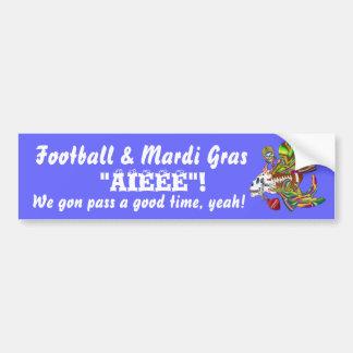 Football Mardi Gras Voodoo Skelly View Notes  Plse Bumper Sticker