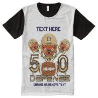 Football Men's Medium All-Over Printed Panel All-Over Print T-shirt