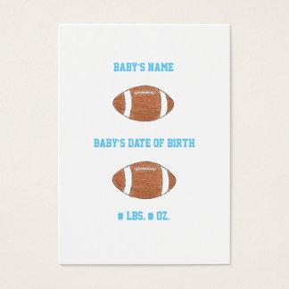 Football mini birth announcement business card