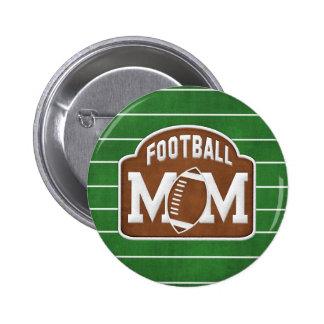 Football Mom 2 Inch Round Button