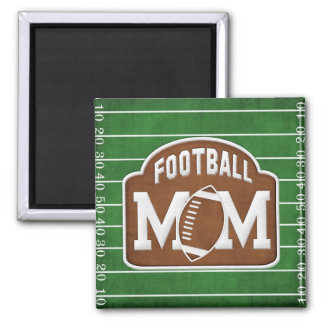 Football Mom 2 Inch Square Magnet