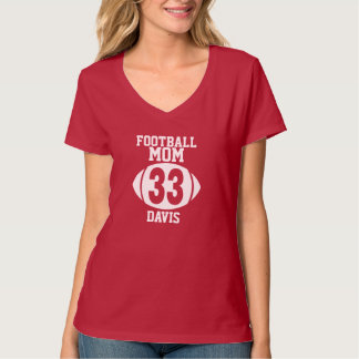 Football Mom 33 Tee Shirt
