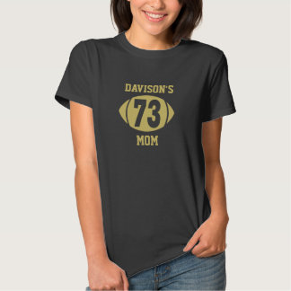 Football Mom 73 Gold Tee Shirt