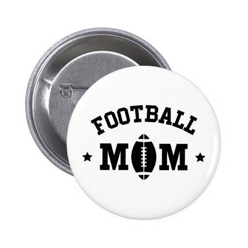 Football mom black text pins