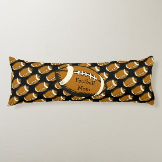 Football Mom Brown and Black Sports Body Pillow