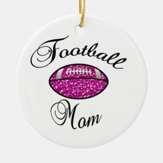 Football Mom Ceramic Ornament