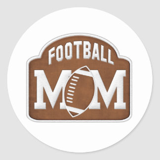 Football Mom Classic Round Sticker