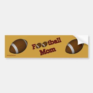 Football Mom Cute Bumper Sticker Car Bumper Sticker