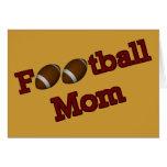 Football Mom Cute Card